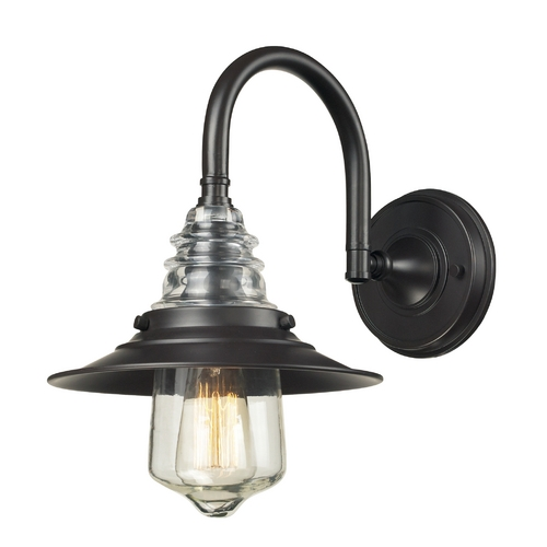 Elk Lighting Sconce Wall Light in Oiled Bronze Finish 66812-1