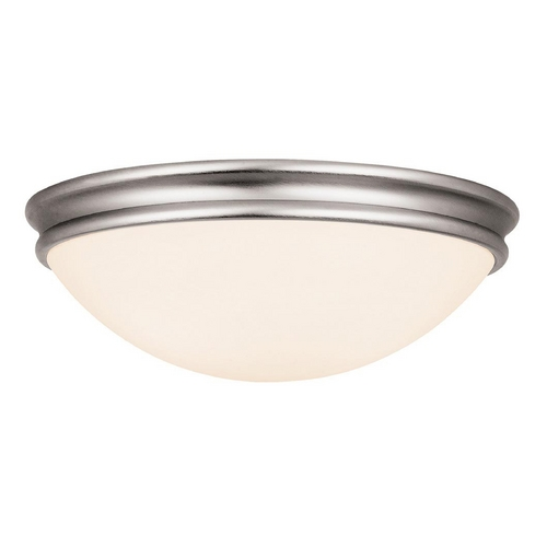 Access Lighting Access Lighting Atom Brushed Steel Flushmount Light C20724BSOPLEN1213BS