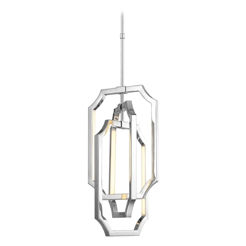Feiss Lighting Feiss Lighting Audrie Polished Nickel LED Pendant Light F2954/6PN
