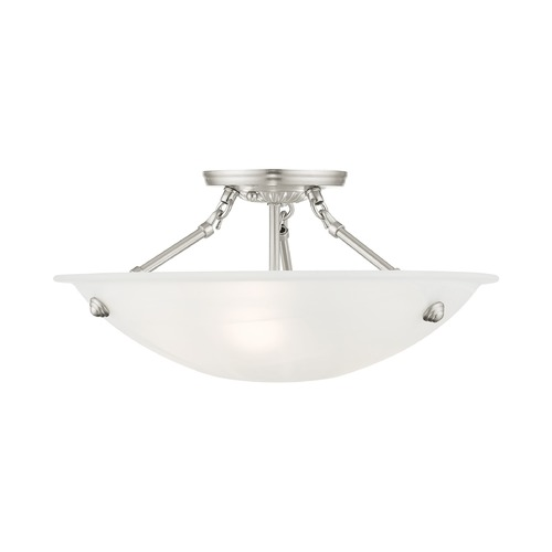 Livex Lighting Livex Lighting Oasis Brushed Nickel Semi-Flushmount Light 4273-91