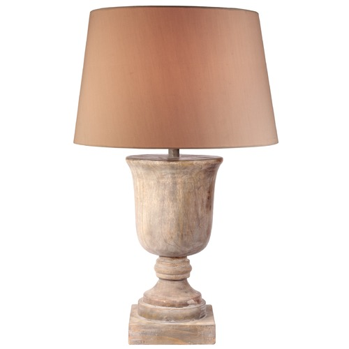 Kenroy Home Lighting Kenroy Home Lighting Hickory Naturally Aged Wood Table Lamp with Empire Shade 32426NAW