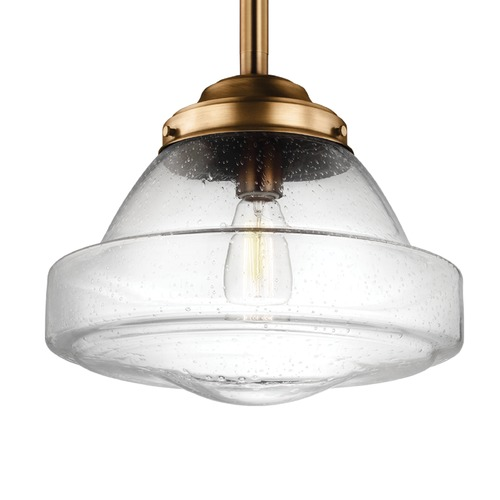 Feiss Lighting Feiss Alcott Aged Brass Pendant Light P1382AGB