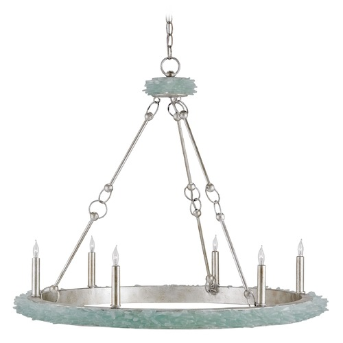 Currey and Company Lighting Currey and Company Tidewater Silver Granello / Seaglass Island Light 9870