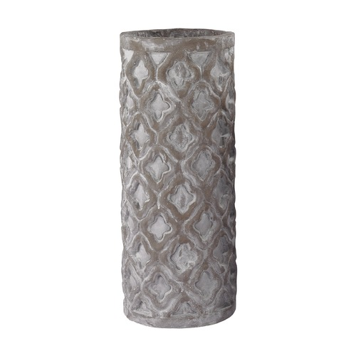 Dimond Home Tall Antique Gray Vase With Organic Pattern 156-004
