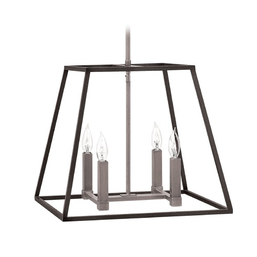 Hinkley Lighting Hinkley Lighting Fulton Aged Zinc Pendant Light 3334DZ