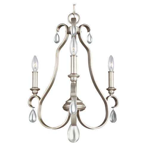 Feiss Lighting Feiss Lighting Dewitt Sunrise Silver Mini-Chandelier F3069/3SRS