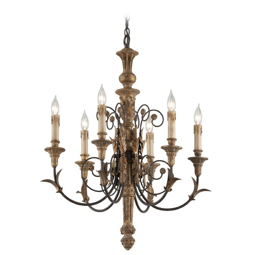 Troy Lighting Troy Lighting Luxembourg Provence Bronze Chandelier F4536