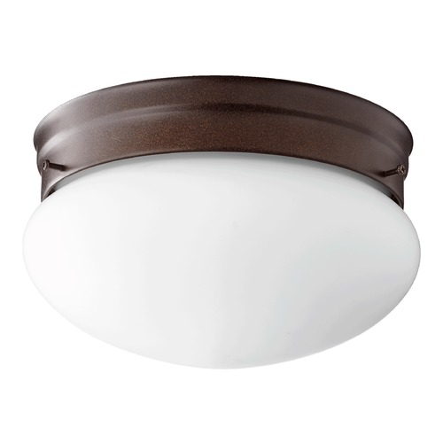 Quorum Lighting Quorum Lighting Oiled Bronze Flushmount Light 3023-8-86