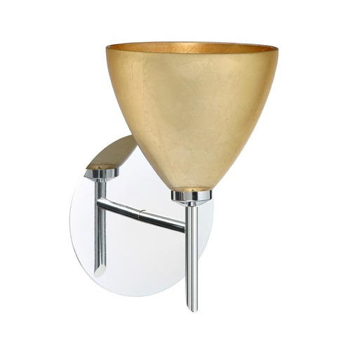 Besa Lighting Besa Lighting Mia Chrome LED Sconce 1SW-1779GF-LED-CR