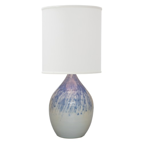 House of Troy Lighting House Of Troy Scatchard Decorated Gray Table Lamp with Cylindrical Shade GS401-DG