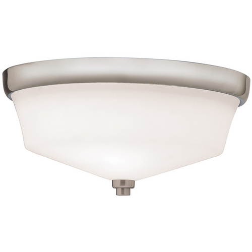 Kichler Lighting Kichler Flushmount Light with White Glass in Brushed Nickel Finish 8044NI