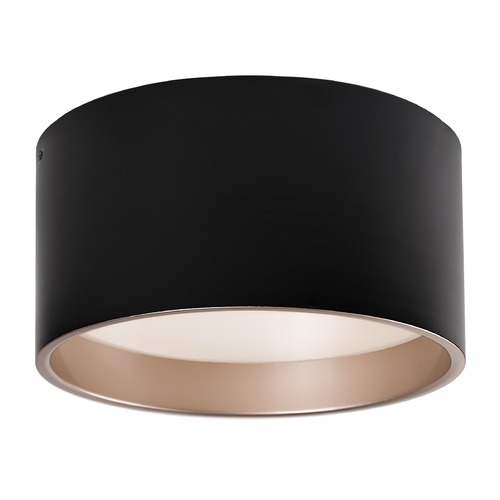 Kuzco Lighting Modern Black and Gold LED Flushmount Light 3000K 754LM FM11414-BK
