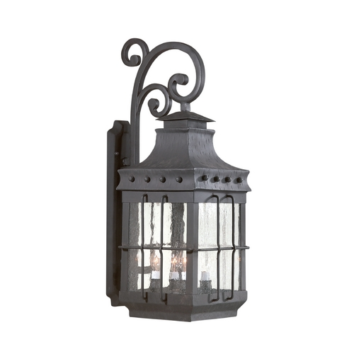 Troy Lighting Seeded Glass Outdoor Wall Light Bronze Troy Lighting BCD8974NB
