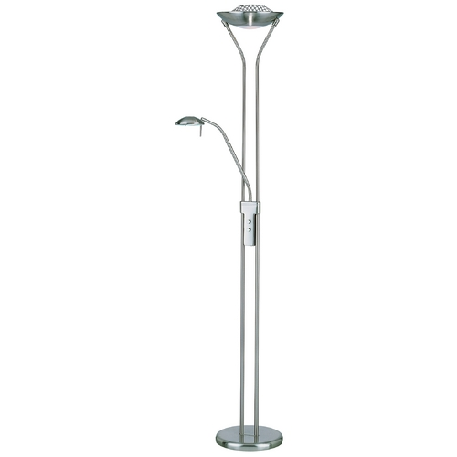 Lite Source Lighting Duality II Torchiere Lamp LS-80984PS