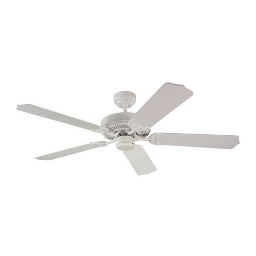 Sea Gull Lighting Ceiling Fan Without Light in White Finish 15030-15