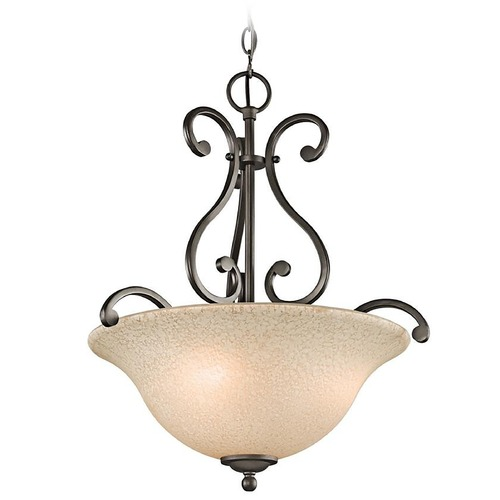 Kichler Lighting Kichler Pendant Light with White Scavo Glass in Olde Bronze Finish 43227OZ