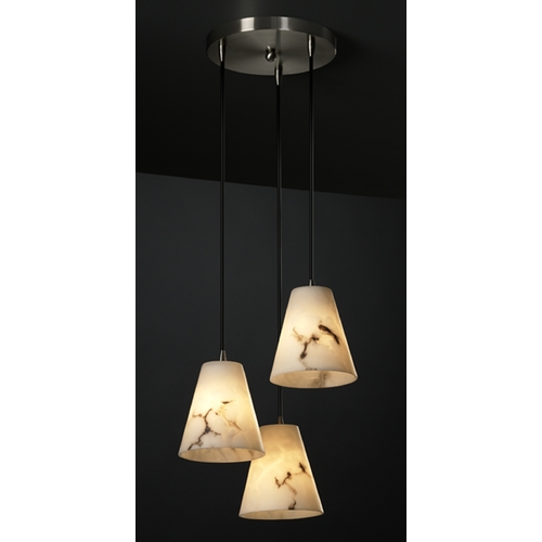 Justice Design Group Justice Design Group Lumenaria Collection Multi-Light Pendant FAL-8818-50-NCKL