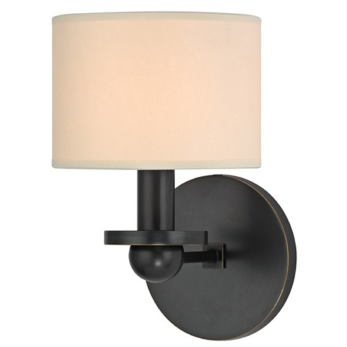 Hudson Valley Lighting Kirkwood 1 Light Sconce Drum Shade - Old Bronze 1511-OB