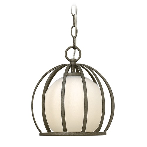 Fredrick Ramond Frederick Ramond Renata Blacksmith Mini-Pendant Light with Globe Shade FR32904BKS