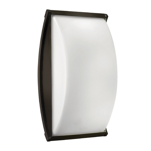 Hinkley Lighting Modern Outdoor Wall Light with White Glass in Bronze Finish 1655BZ-GU24