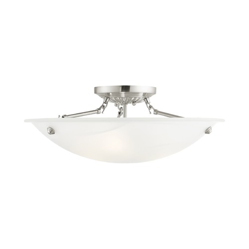 Livex Lighting Livex Lighting Oasis Brushed Nickel Semi-Flushmount Light 4274-91