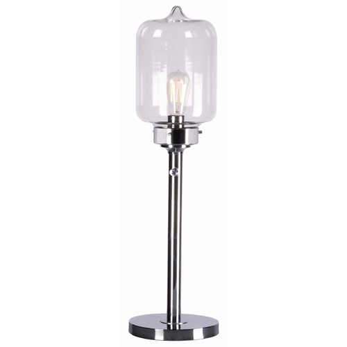 Kenroy Home Lighting Kenroy Home Lighting Casey Chrome Table Lamp with Cylindrical Shade 32407CH