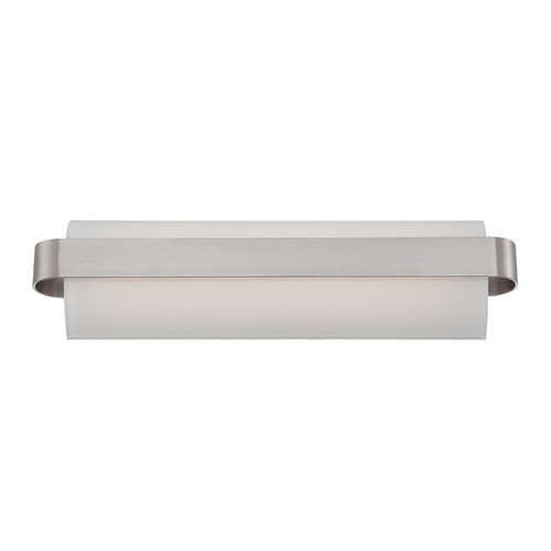 Modern Forms by WAC Lighting Demi Brushed Nickel LED Bathroom Light - Vertical or Horizontal Mounting WS-3518-BN