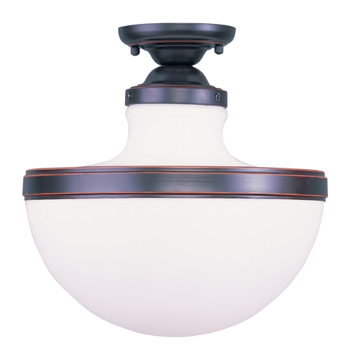 Livex Lighting Livex Lighting Oldwick Olde Bronze Semi-Flushmount Light 5723-67