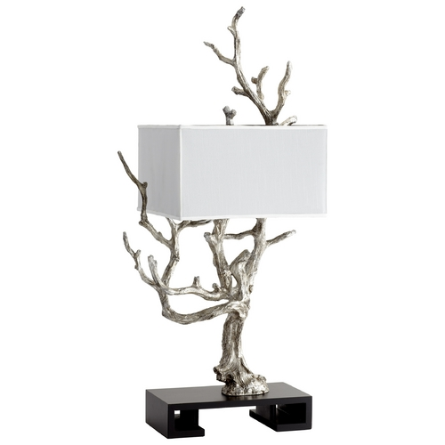 Cyan Design Cyan Design Mesquite Mystic Silver Table Lamp with Rectangle Shade 05951