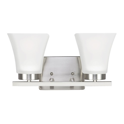 Sea Gull Lighting Sea Gull Lighting Bayfield Brushed Nickel Bathroom Light 4411602BLE-962
