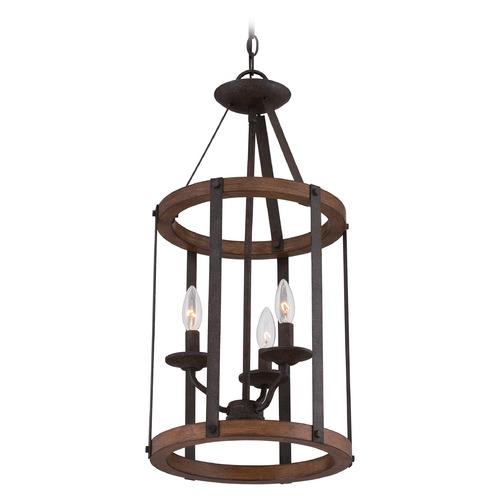 Quoizel Lighting Quoizel Rustic Black Pendant Light QF1840RK