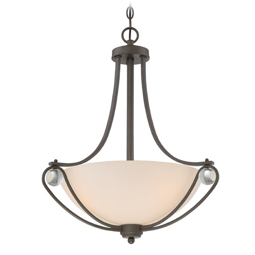 Quoizel Lighting Quoizel Lighting Amelia Old Bronze Pendant Light with Bowl / Dome Shade AML2821OZ