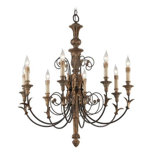 Troy Lighting Troy Lighting Luxembourg Provence Bronze Chandelier F4538