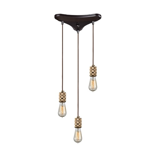Elk Lighting Elk Lighting Camley Polished Gold, Oil Rubbed Bronze Multi-Light Pendant 14391/3
