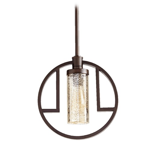 Quorum Lighting Quorum Lighting Julian Oiled Bronze Pendant Light with Cylindrical Shade 303-86