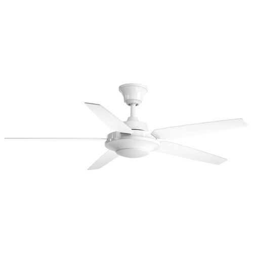 Progress Lighting Airpro Signature Plus II White LED Ceiling Fan with Light 3000K 1500LM P2539-3030K