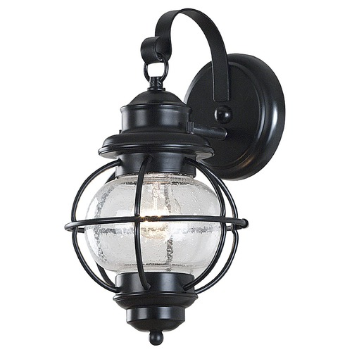 Kenroy Home Lighting Seeded Glass Outdoor Wall Light Black Kenroy Home Lighting 90961BL