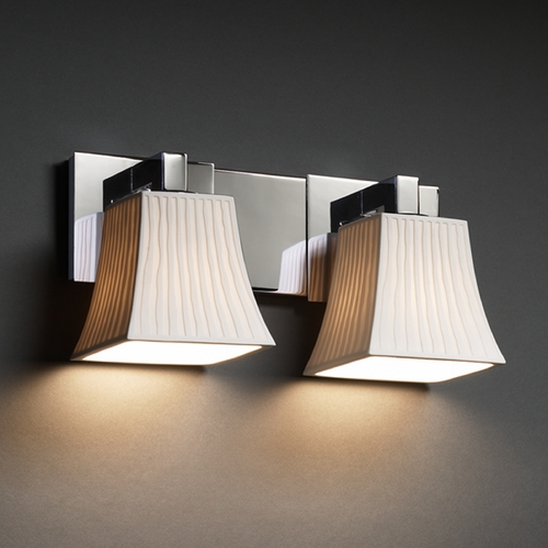 Justice Design Group Justice Design Group Limoges Collection Bathroom Light POR-8922-40-WFAL-CROM