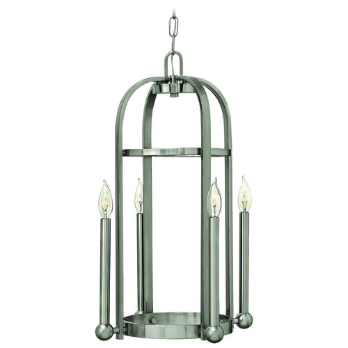 Hinkley Lighting Pendant Light in Brushed Nickel Finish 3013BN
