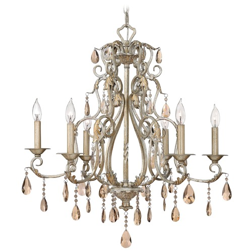 Hinkley Lighting Crystal Chandelier in Silver Leaf Finish 4776SL