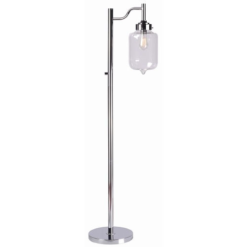Kenroy Home Lighting Kenroy Home Lighting Casey Chrome Floor Lamp with Cylindrical Shade 32408CH