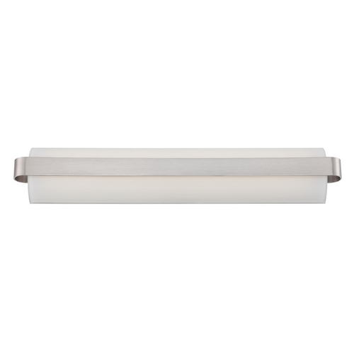 Modern Forms by WAC Lighting Demi Brushed Nickel LED Bathroom Light - Vertical or Horizontal Mounting WS-3528-BN
