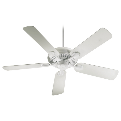 Quorum Lighting Quorum Lighting Pinnacle Patio Studio White Ceiling Fan Without Light 191525-8