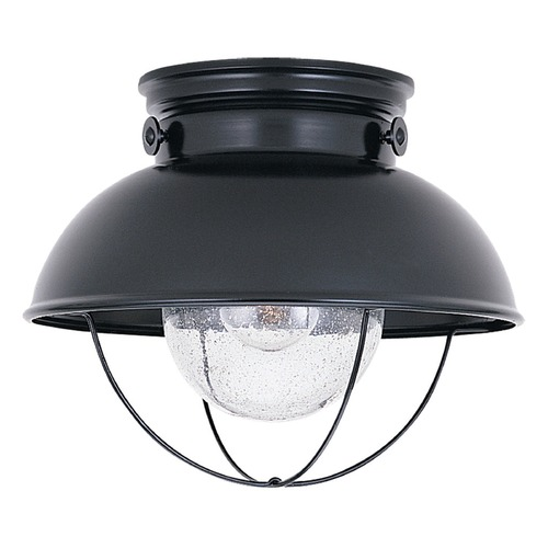 Sea Gull Lighting Sea Gull Lighting Sebring Black LED Close To Ceiling Light 886991S-12