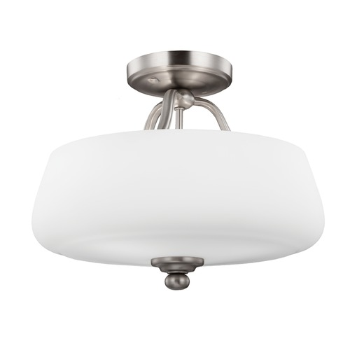 Feiss Lighting Feiss Lighting Vintner Satin Nickel Semi-Flushmount Light SF317SN