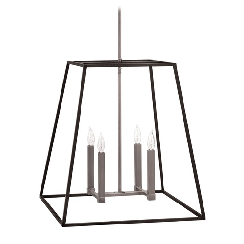 Hinkley Lighting Hinkley Lighting Fulton Aged Zinc Pendant Light 3336DZ