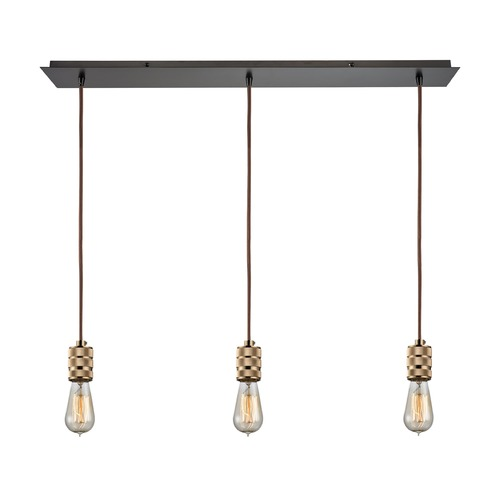 Elk Lighting Elk Lighting Camley Polished Gold, Oil Rubbed Bronze Multi-Light Pendant 14391/3LP