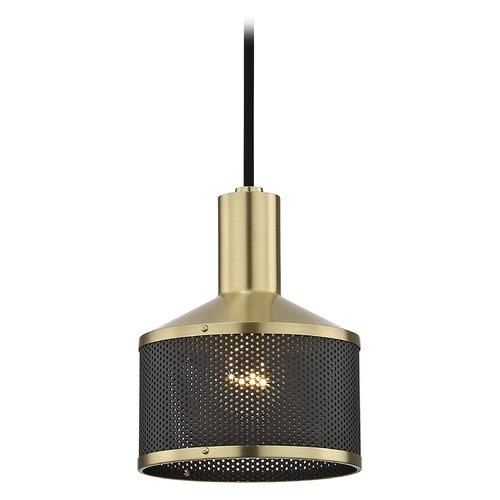 Industrial Mini-Pendant Light Brass Mitzi Yoko By Hudson