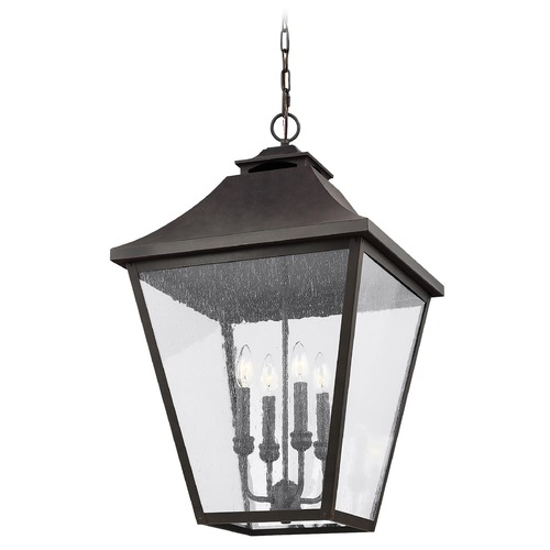 Feiss Lighting Feiss Lighting Galena Sable Outdoor Hanging Light OL14409SBL