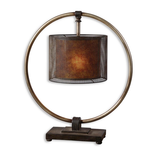 Uttermost Lighting Table Lamp in Rustic Dark Bronze Finish 27649-1